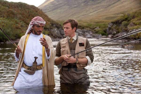 Amr Waked, left, and Ewan McGregor star in