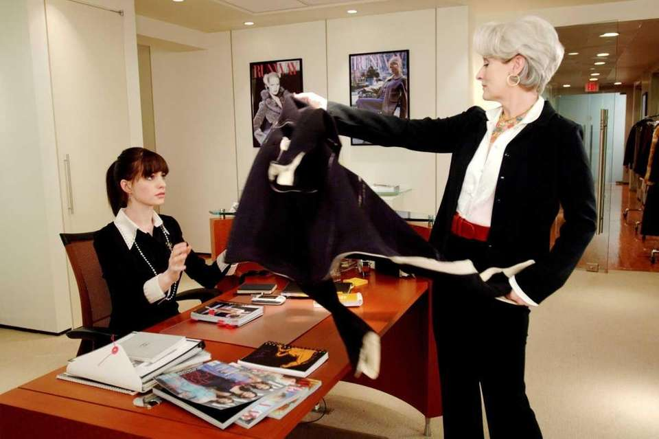 Imperious fashion magazine editor Miranda Priestly (Meryl Streep)