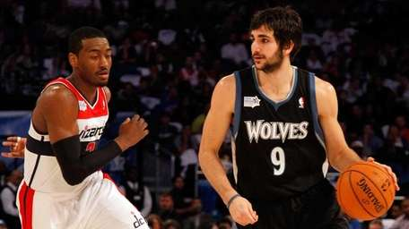 Ricky Rubio #9 of the Minnesota Timberwolves and