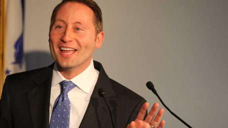 Westchester County Executive Rob Astorino talks to the