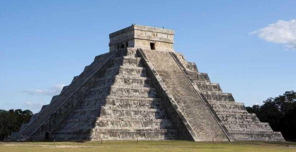 Temple of Kukulkan, a Mayan pyramid in Chichen