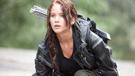 "Jennifer Lawrence stars as Katniss in ""The Hunger"