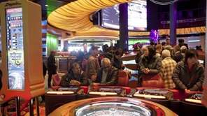 People play video roulette at the new Resorts