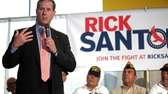 Republican presidential candidate Rick Santorum speaks to an