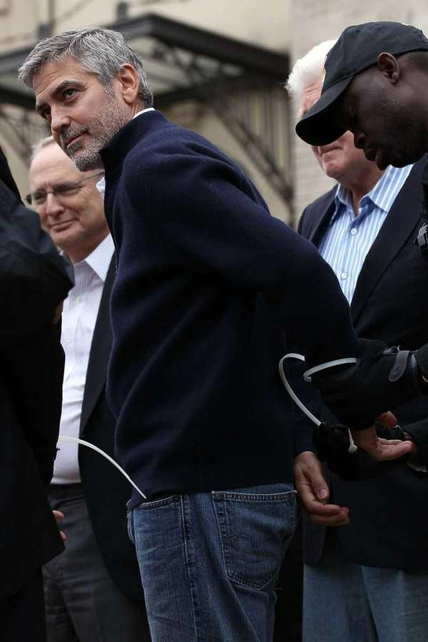 George Clooney is arrested during a demonstration outside