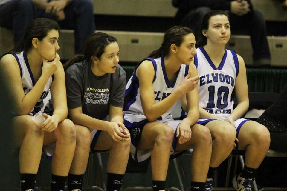 Teammates from Elwood/John Glenn look on during play
