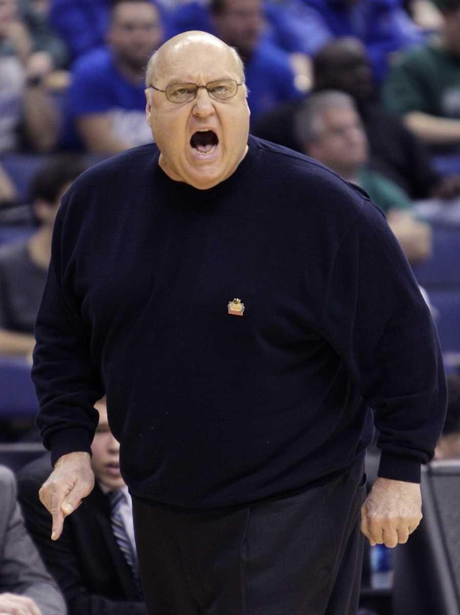 Saint Louis' Rick Majerus coaches against Memphis during