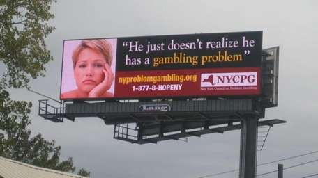 A billboard posted in Albany by the New