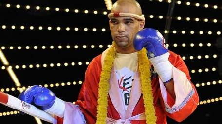 Nick Vaughan enters the ring to fight Birian