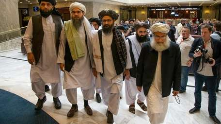 Taliban officials including the group's top political leader,