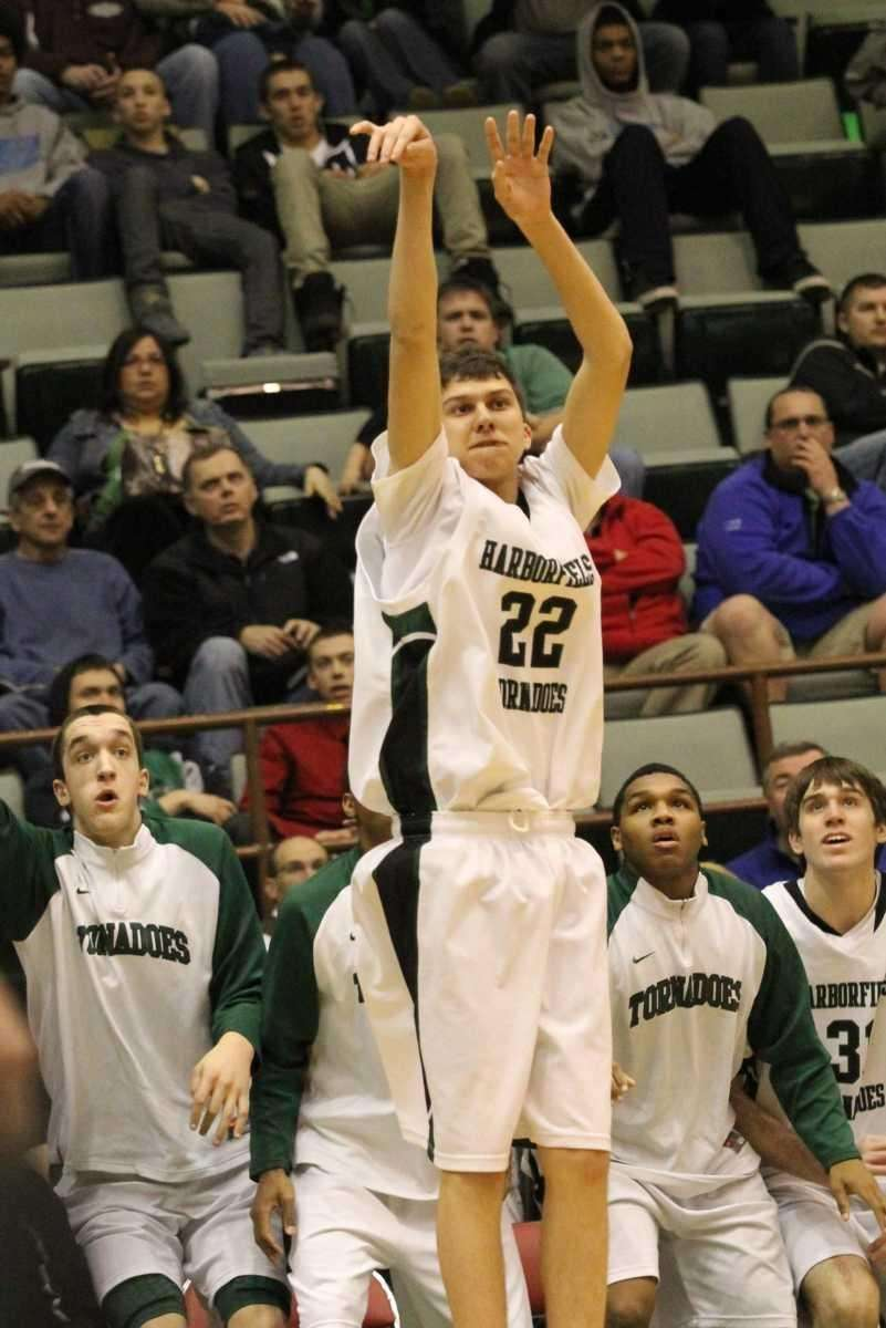 Harborfields High School's Kevin Zabransky goes for a