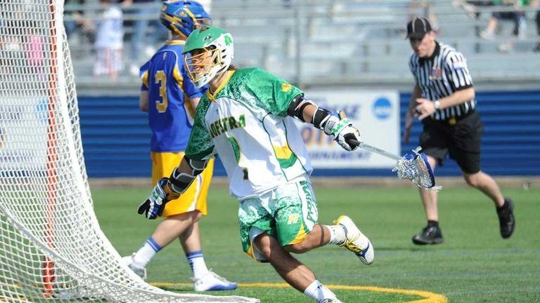 Hoftsra vs. Delaware Lacrosse--Hofstra's #2 Lance Yapor celebrates