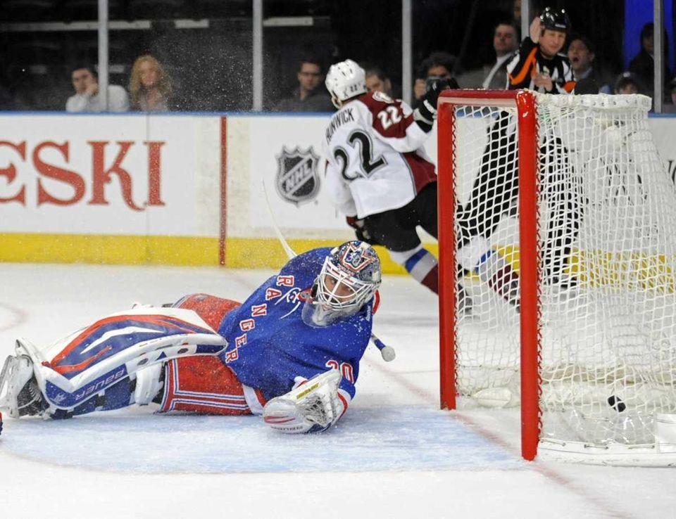 New York Rangers goaltender Henrik Lundqvist, of Sweden,