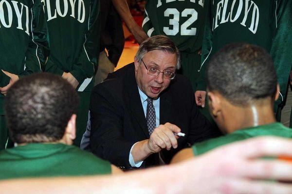 Floyd head coach Bob Hodgson during a Class
