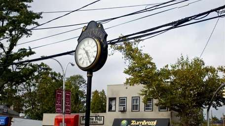 The Village of Great Neck accents its downtown