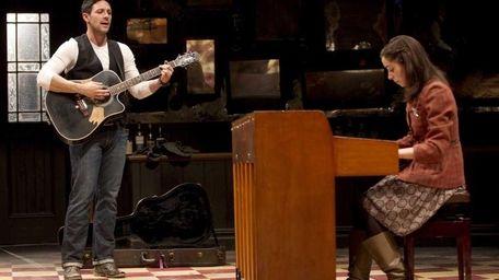 Steve Kazee and Cristin Milioti in a scene