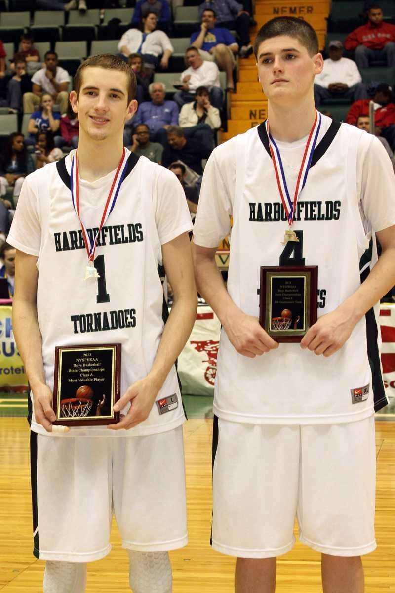 Harborfields Lucas Woodhouse and Justin Ringen pose with