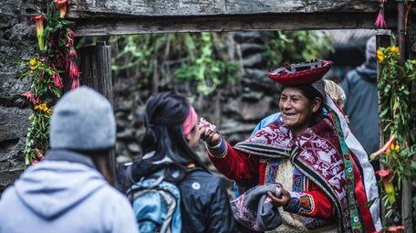 Participants in REI's Machu Picchu Women's Lares Lodge