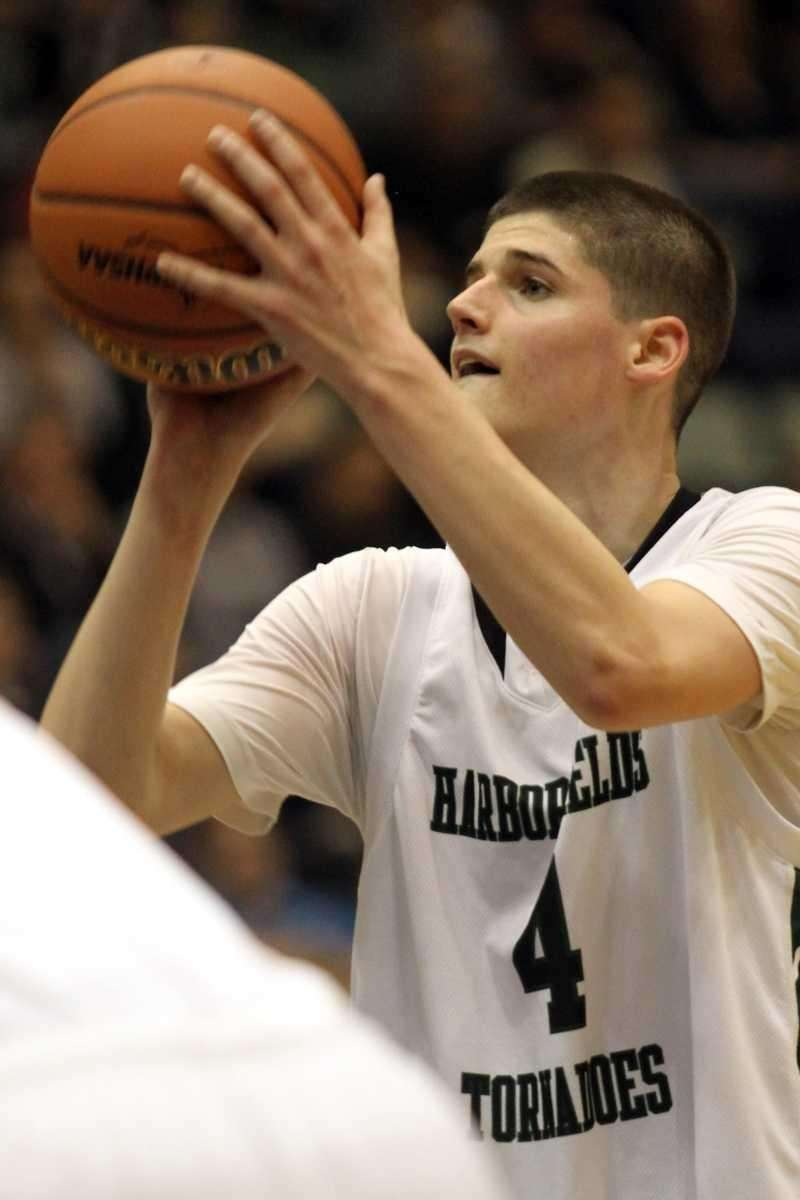 Harborfields' Justin Ringen shoots a free throw during