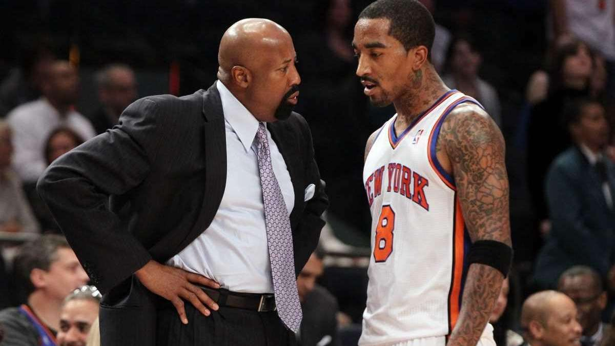 Mike Woodson NBA not happy with J R Smith