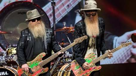 Singer-songwriters Dusty Hill (left) and Billy Gibbons of