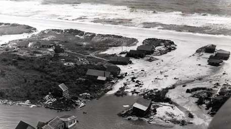 This aerial view of Fire Island shows the