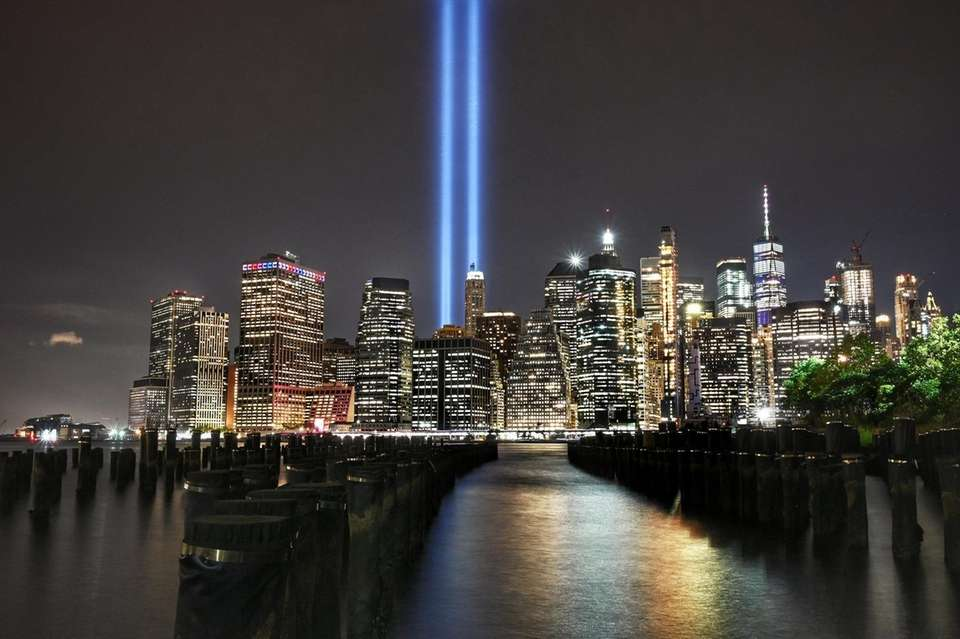 The Tribute in Light is tested before the