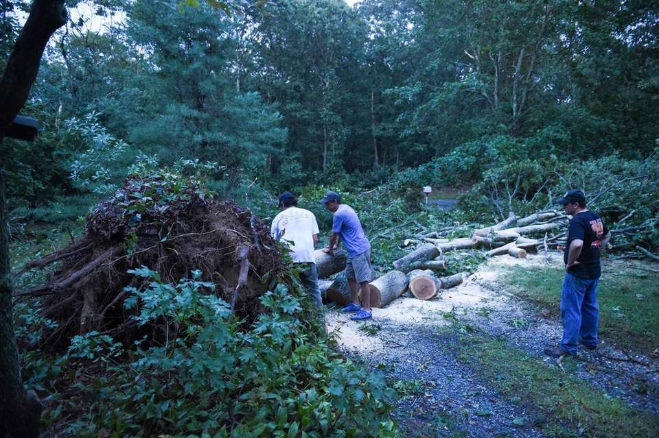 Cleanup underway on Drayton Avenue in Manorville on