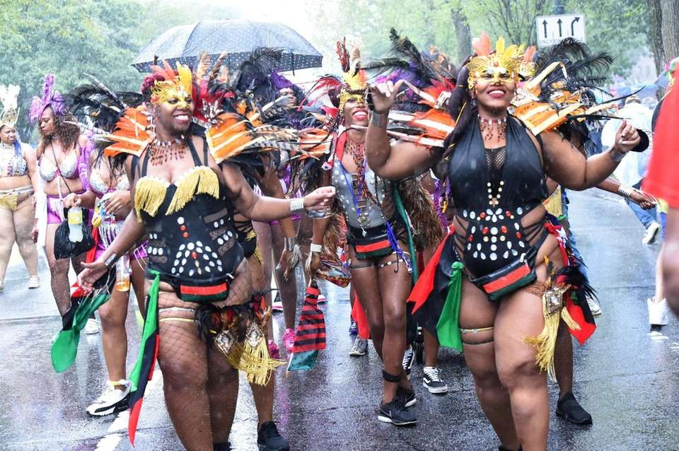 The West Indian Day Parade was a soggy