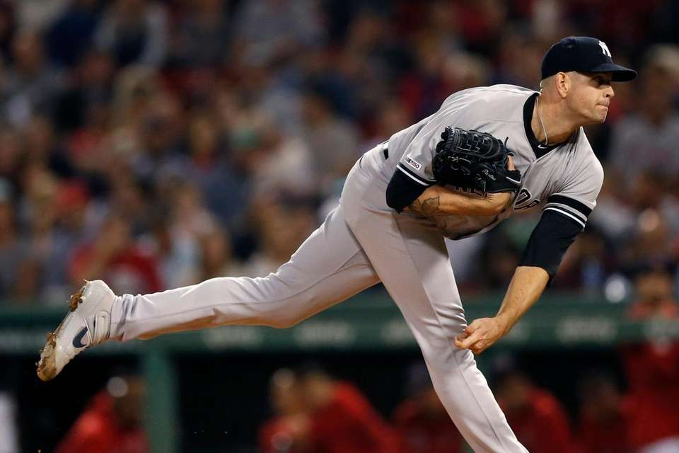 New York Yankees starter James Paxton pitches during