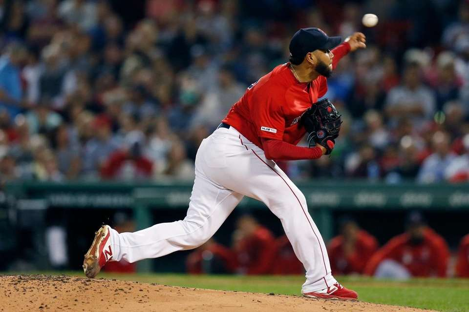 Boston Red Sox starter Eduardo Rodriguez pitches during