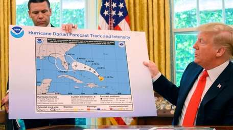 President Donald Trump and acting Secretary of Homeland