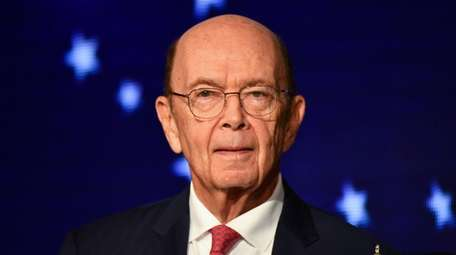 Commerce Secretary Wilbur Ross speaks during a meeting