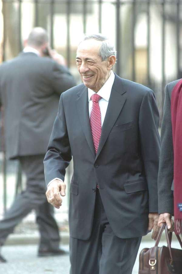 Former Governor of New York, Mario Cuomo, arrives