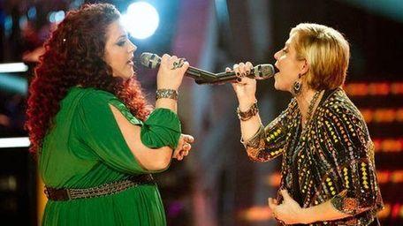 Erin Willett and Gwen Sebastian perform during the