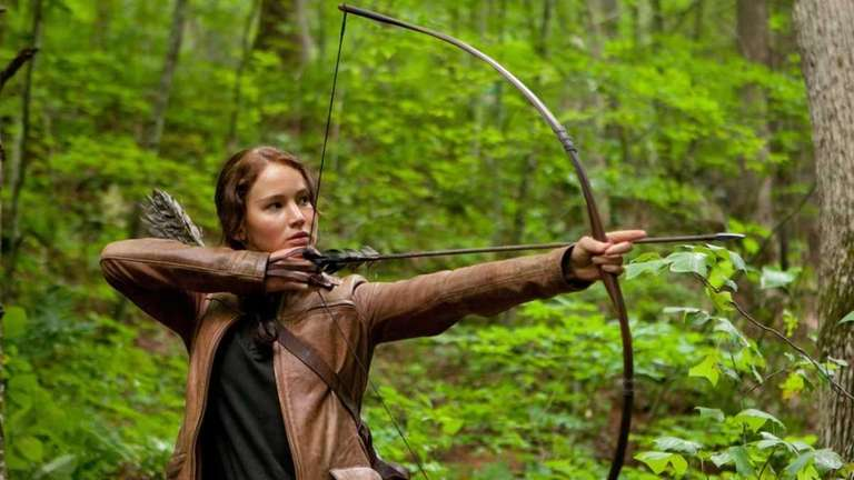Jennifer Lawrence stars as Katniss Everdeen in