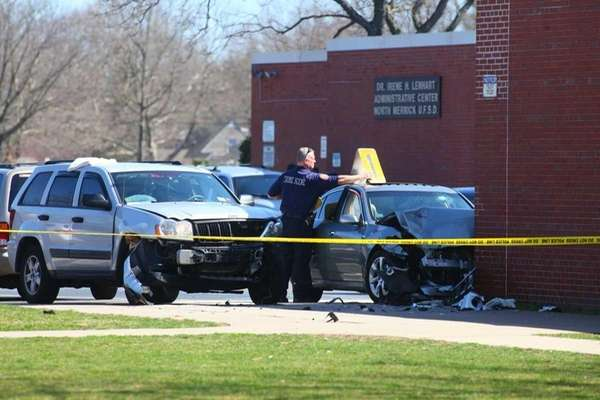 Nassau police investigate the scene at Harold D.