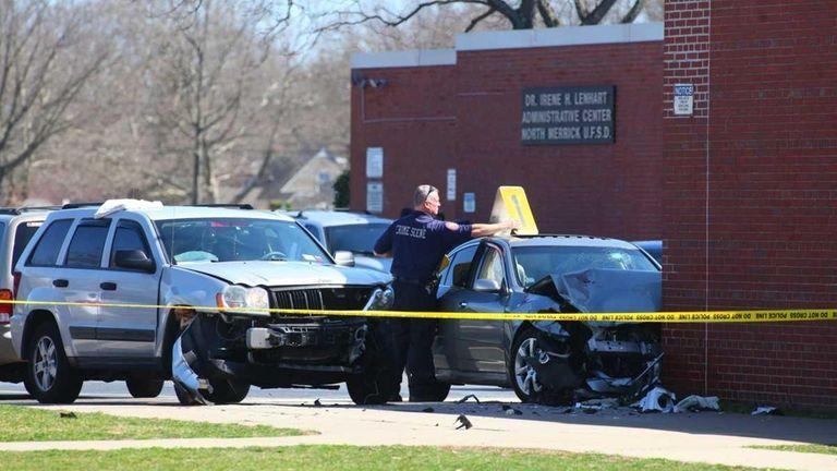 Nassau police investigate the scene at Harold D.