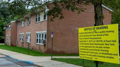 Construction on the Laurel Homes complex is scheduled