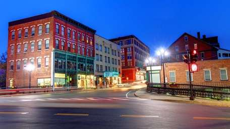The streets of downtown Brattleboro paint a colorful