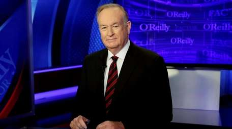 Bill O'Reilly in 2015 on the set of