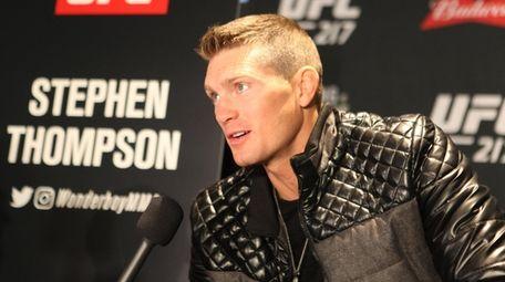 UFC welterweight Stephen Thompson talks on Wednesday, Nov.
