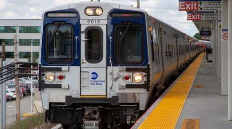The new M9 LIRR train on Tuesday in