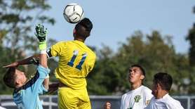 Lawrence's Mauricio Puerto-Quintanilla gets the header and the