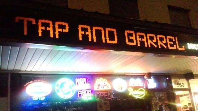The front of the Tap and Barrel in