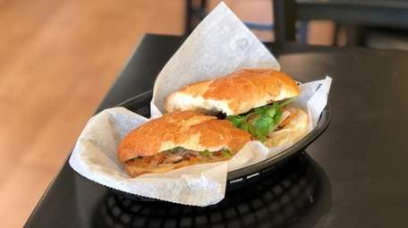 The grilled pork banh mi from B. Bistro