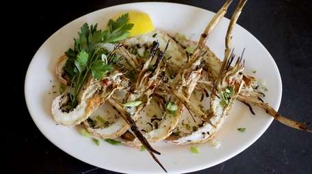 Grilled langoustines at Kyma, a Greek restaurant in
