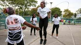 Members of the Dutches of Ropes double dutch