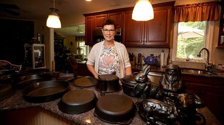 Stony Brook's Lynn Kram with cast iron cookware