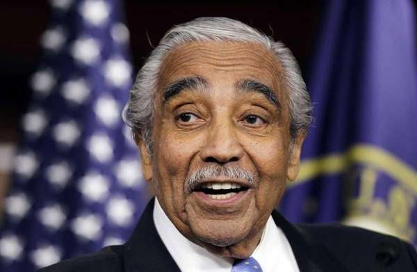Rep. Charles Rangel (D-Harlem) speaks to the media